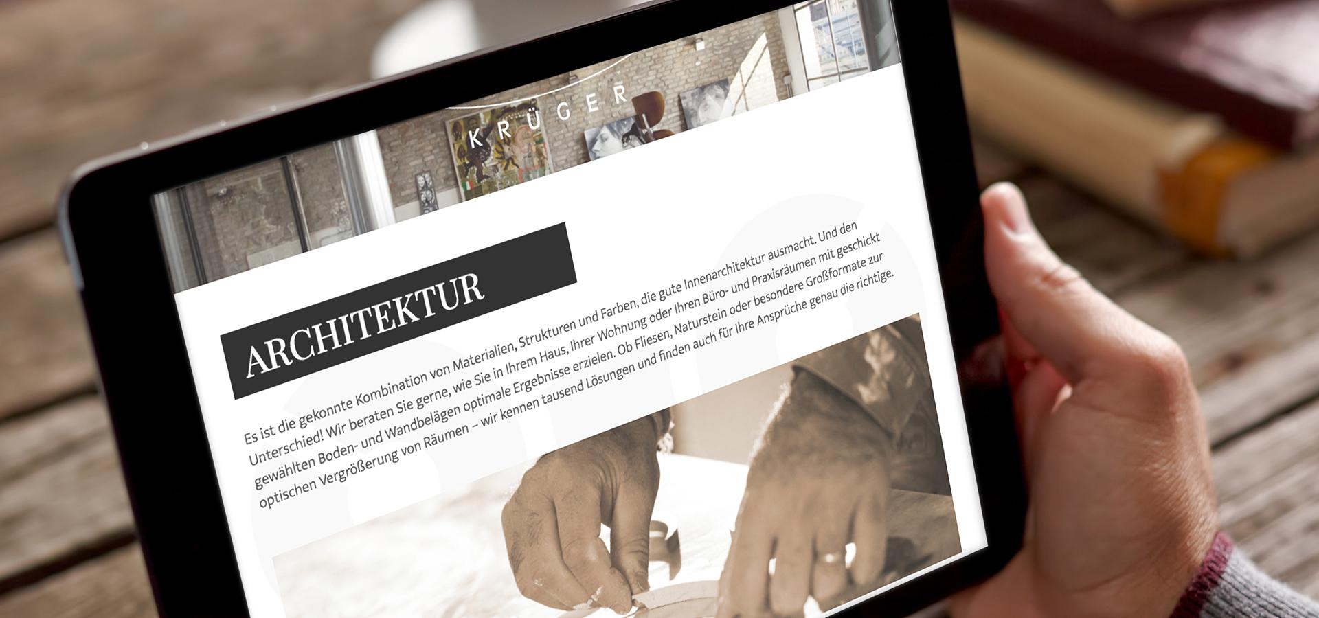 Fliesen Krüger Hannover krüger hannover webseite relaunch rpunkt de